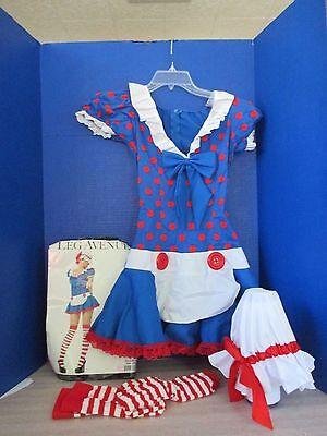LEG AVENUE~RAGDOLL Maid HALLOWEEN COSTUME~Dress~Bonnet~Stockings~Small / Medium - Ragdoll Halloween