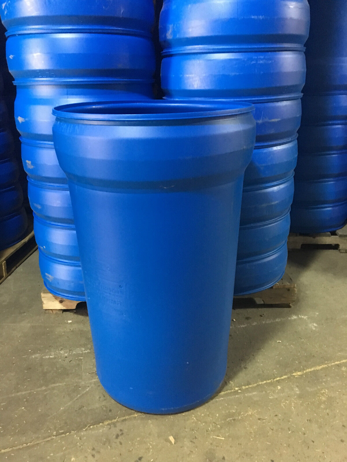 55 Gallon Food Grade Open Head Drums with Lid and Lever Latch
