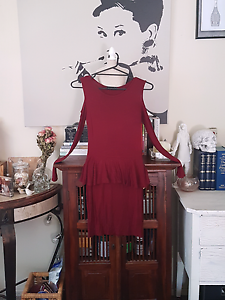 Maroon Misguided Dress (Size 8) Eden Hill Bassendean Area Preview