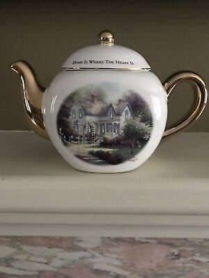 Thomas Kinkade Home Is Where The Heart Is Decorative Tea Pot