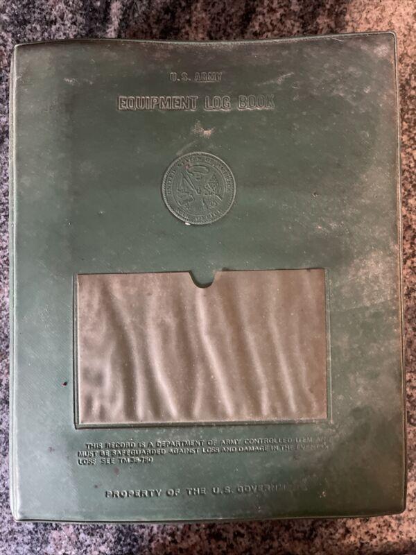 US ARMY 1990 EQUIPMENT LOG BOOK *RARE*