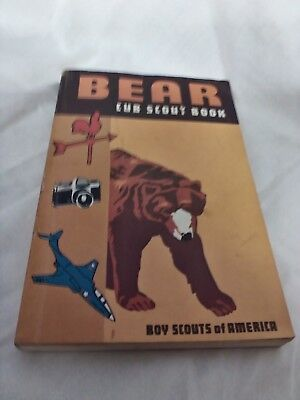 BOY SCOUTS OF AMERICA 1967 BEAR CUB SCOUT BOOK with bear parents supplemnt