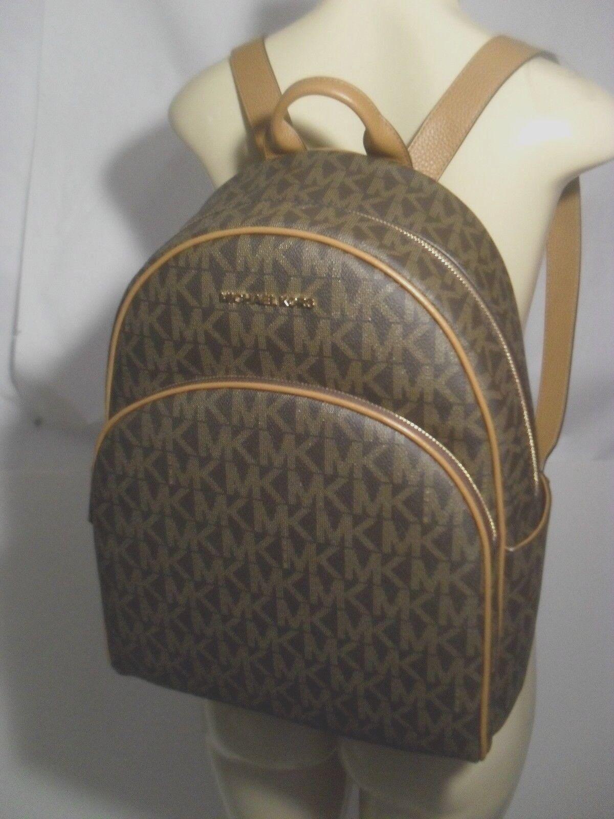 Michael Kors - NWT Michael Kors Abbey Brown Acorn PVC Large Backpack School Book Bag MK
