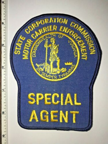 Virginia State Motor Carrier Enforcement Special Agent Police Shoulder Patch New