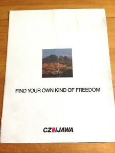 1978 CZ JAWA MOTORCYCLES SALES BROCHURE