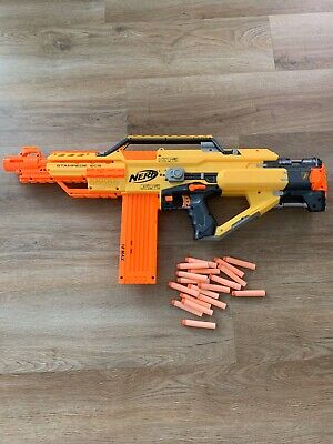 Nerf Stampede ECS N-Strike Automatic Blaster Dart Gun with Loaded Magazine