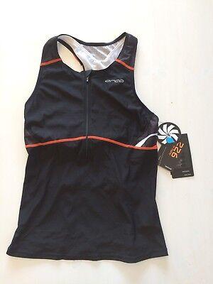 Orca Damen 226 Triathlon Support Singlet mit BH - Schwarz - Größe L - UVP 79,95