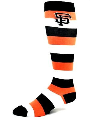San Francisco Giants Orange Black and White Striped Long Crew Socks Logo on Leg](Orange And Black Striped Leggings)