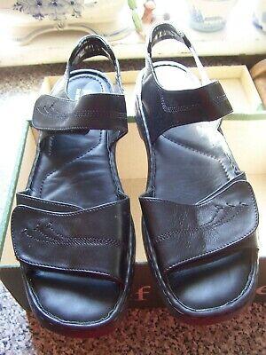 JOSEF SEIBEL ADELLE NEW Ladies Black Adjustable Sandals - Size 9/43