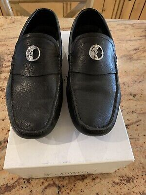 Versace Mens Loafers Black Used Shoes (Size 8/42)