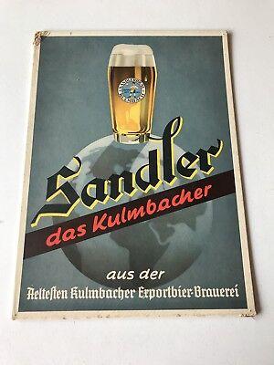 German beer Sign Sandler Brau brewery Kulmbach Bavaria