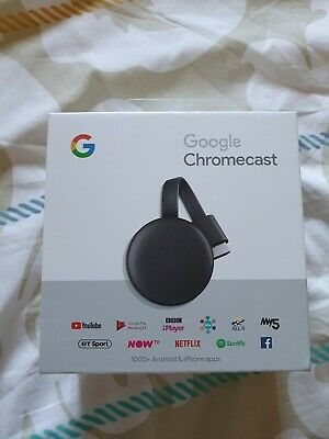 Google Chromecast GA00439-GB - 3rd Generation Charcoal Media Streamer