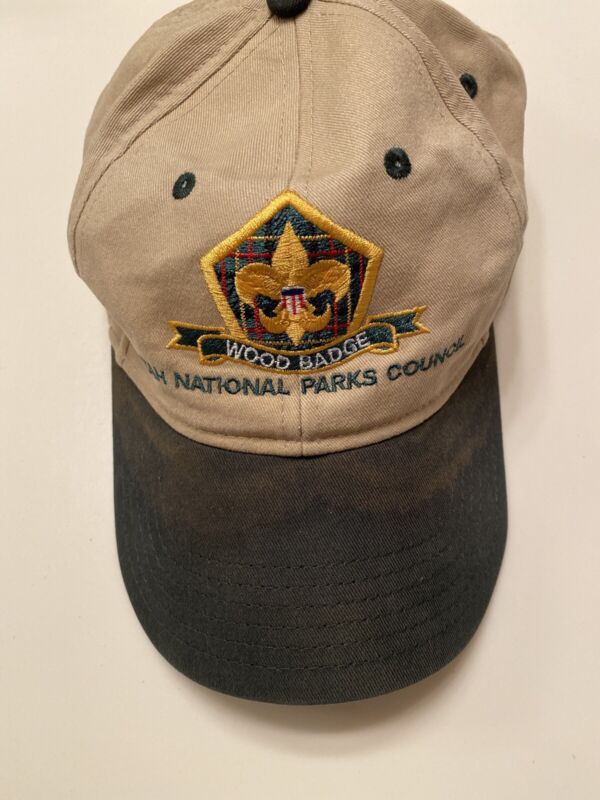 Utah National Parks Wood badge Boy Scout BSA Baseball Cap Hat Adjustable Back