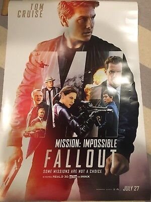 """Mission Impossible - Fallout Original movie poster NEW 27"""" X 40"""" Tom (Mission Impossible Poster)"""
