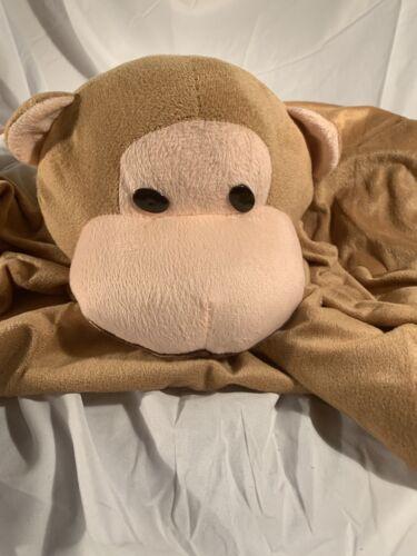 Babyworld Brown Monkey Animal Security Blanket Plush Tummy T