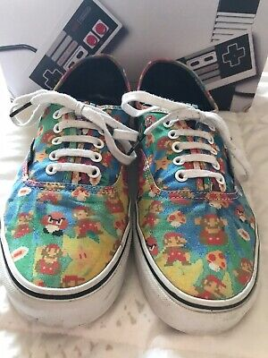 Vans X Nintendo Super Mario Bros Trainers Mens Size 9.5 UK Boxed Rare