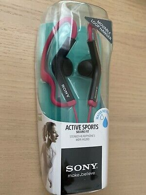Sony MDR-AS200 Active Sports Movable Loop Hanger Headphones, Pink for sale  Shipping to India
