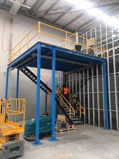 New diy mezzanine floor storage platform packagesolution5m x 9m sydney mezzanines and installation warehouse office mezzanine solutioingenieria Gallery