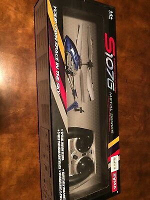Cheerwing S107 S107G 3.5CH Alloy Mini Remote Control RC Helicopter Gyro Blue, used for sale  Jacksonville