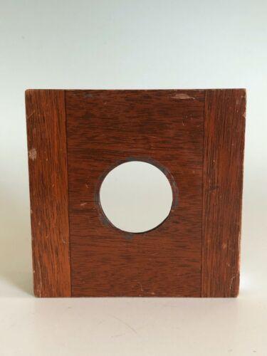 "Deardorff Solid Mahogany 4"" x 4"" Lens Board Camera 35mm hole for #0 Copal"