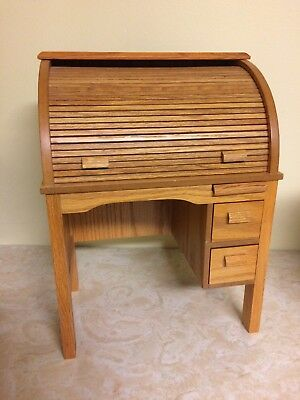 American Girl Doll Kits School Roll Top Wooden Antique Style Desk Nanea