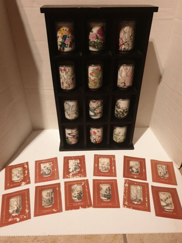 Vintage Franklin Porcelain The Tea Cups of the 12 Months of the Year 1981 Japan