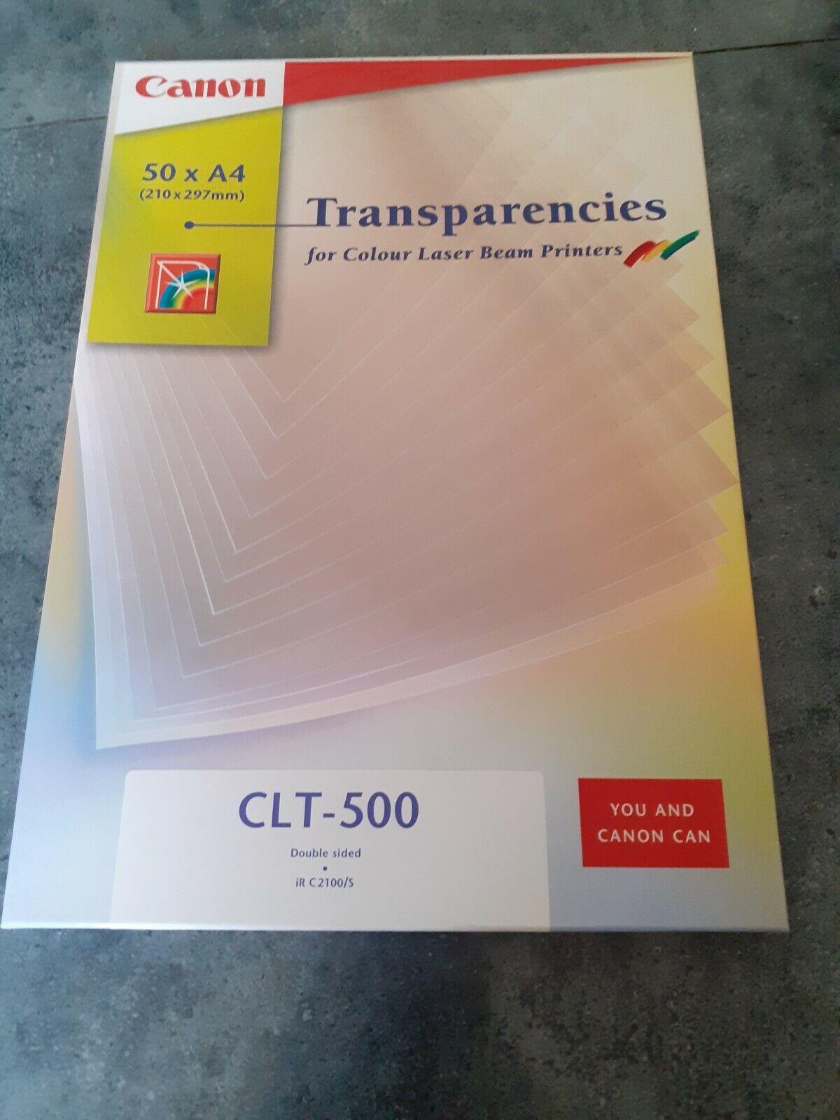 Canon 50 feuilles transparentes a4 pour imprimante laser couleur réf clt-500
