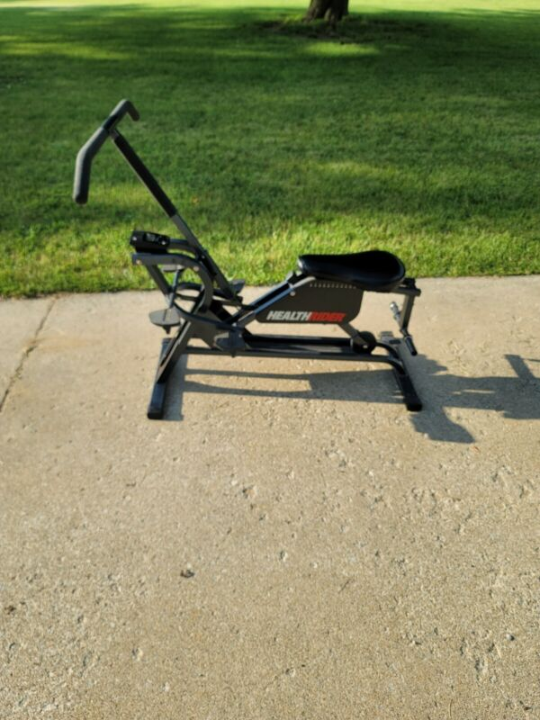 HEALTHRIDER TOTAL BODY FITNESS EXERCISE MACHINE W/ MONITOR & WEIGHT BAR