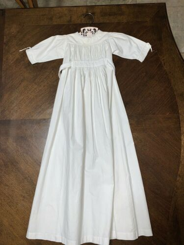 """Antique/Vintage Long White Baby Doll Dress 33"""" LONG"""