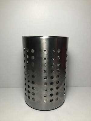 IKEA ORDNING Stainless Steel Large 7 Kitchen Utensil Caddy Cooking Tools Holder
