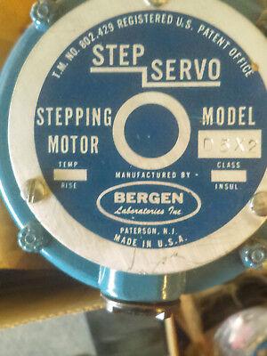 Set Of 3 Bergen Usa Step-servo Stepping Motors Stepper Model D5x2 - Cnc