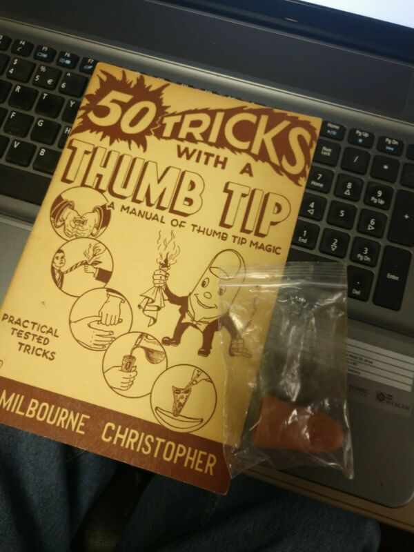 50 TRICKS WITH A THUMB TIP: A Manual of Thumb Tip Magic [Paperback] Milbourne