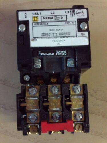 Square D 8536SBO2S Motor Starter 120/110v