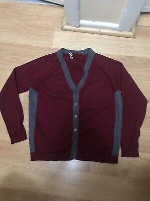 Marni Kids Burgundy Wool Cardigan Sweater 12