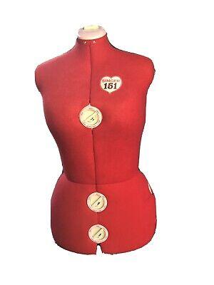 Singer Model 151 Adjustable Red Dress Form Mannequin Sewing - Freeship No Stand