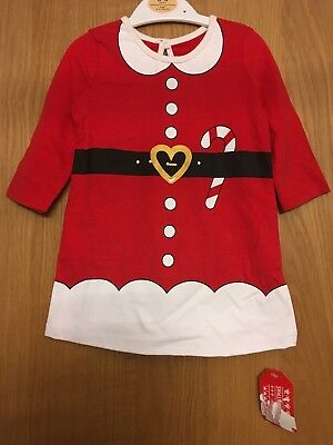 BNWT BABY MRS MISS SANTA CLAUS CHRISTMAS DRESS OUTFIT 0-3 Months - Baby Mrs Santa Outfit