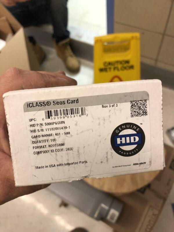 Lot of 100 HID Seos/iClass/Prox Smart Cards, Plain White Gloss Finish