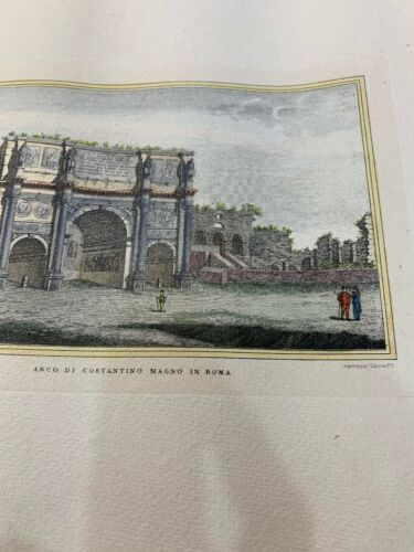 Antique Hand Colored Print / Etching Arco Roma Artist Unknown 16 1/2 X 11 1/2 - $9.99