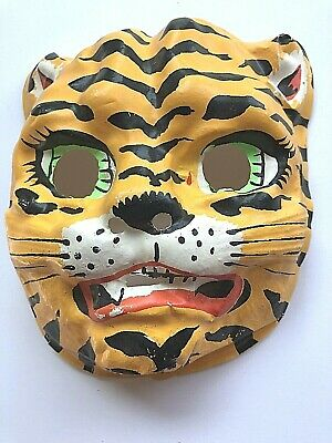 VTG Ben Cooper? Halloween Costume Mask, Tiger Cat-Looks Like BROADWAY CATS PLAY