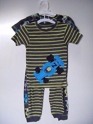 Carter's Just One You 4-Piece Race Car Boys Snug Fit Pajama Set