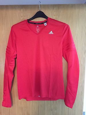 BNWT Adidas long sleeve running top, M, Climalite,Response , with thumb holes,