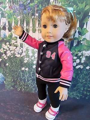 50s Inspired Varsity Jacket for American Girl Doll Maryellen or Other 18