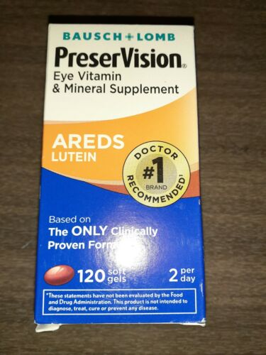 Bausch+Lomb PreserVision Eye Vitamin AREDS LUTEIN 120 Softge