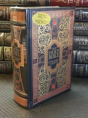 THE HOLY BIBLE King James Version GUSTAVE GORE ILLUSTRATED Leather Bound NEW