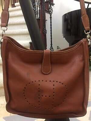 Hermès Evelyne Vintage Designer Handbag Purse Brown Good Condition