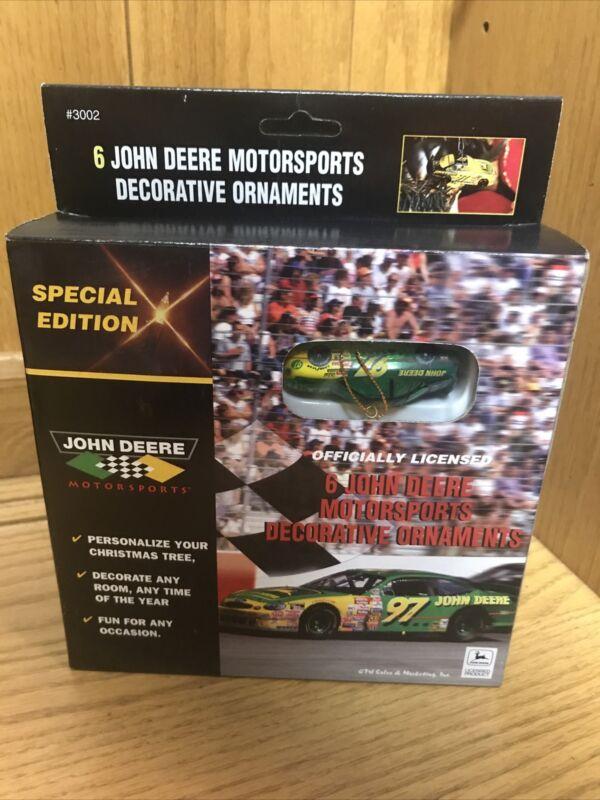 6 John Deere Motorsports Decorative Ornaments NIB