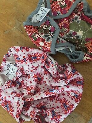 2 Rumparooz One Size Diaper Covers Cloth Diapering Lot Girls