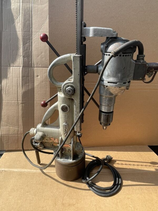 """BUX ELECTRO-MAGNETIC DRILL PRESS L-3RP INCL ... B&D 3/4"""" UTILITY POWER DRILL"""