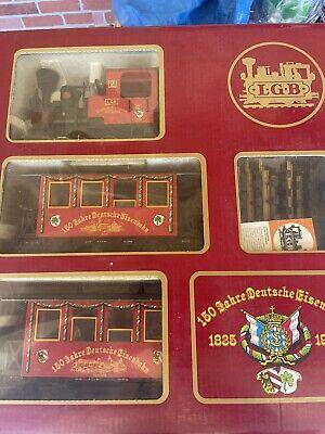 LGB Limited 150th Anniversary Christmas Set Steam Loco Germany Rare Passengers