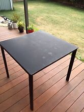 Outside dining table, square (black) Bundoora Banyule Area Preview